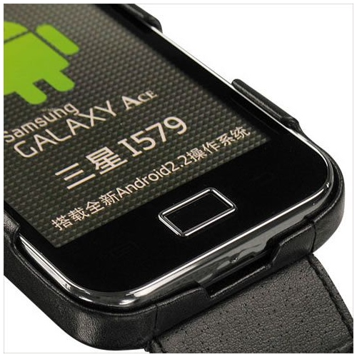 Housse cuir Samsung GT-S5830 Galaxy Ace