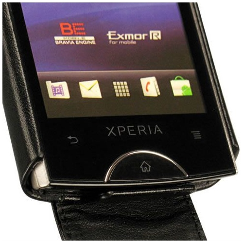 Sony Ericsson Xperia Ray  leather case