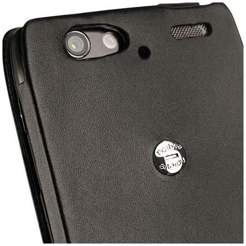 Housse cuir Motorola RAZR XT910