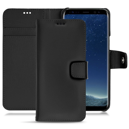 Samsung Galaxy S8 leather case - Noir PU