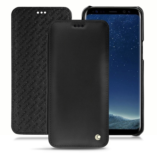 Samsung Galaxy S8+ leather case - Noir ( Nappa - Black )
