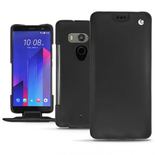 Custodia in pelle HTC U11+ - Noir ( Nappa - Black )