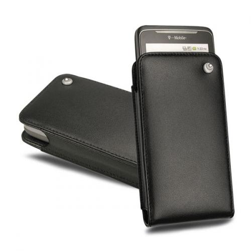 Capa em pele HTC Desire Z - HTC 7 Trophy - Noir ( Nappa - Black )