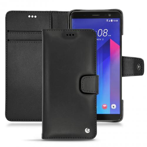Housse cuir HTC U11+ - Noir ( Nappa - Black )