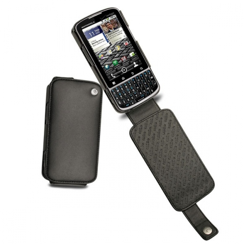 Motorola Droid Pro XT610  leather case - Noir ( Nappa - Black )