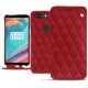 Housse cuir OnePlus 5T - Rouge - Couture ( Nappa - Pantone 199C )