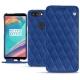 Housse cuir OnePlus 5T - Bleu océan - Couture ( Nappa - Pantone 293C )