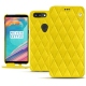 Housse cuir OnePlus 5T - Jaune fluo - Couture