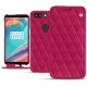 Housse cuir OnePlus 5T - Rose fluo - Couture