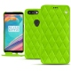 Housse cuir OnePlus 5T - Vert fluo - Couture