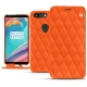 Housse cuir OnePlus 5T - Orange fluo - Couture