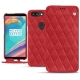 Housse cuir OnePlus 5T - Rouge troupelenc - Couture