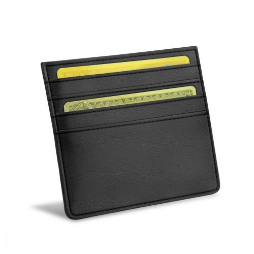 クレジットカードホルダー X4 - RFID / NFC 保護機能付き - Noir PU
