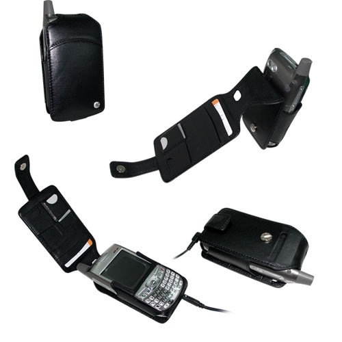 Palm Treo 700w  leather case - Noir ( Nappa - Black )