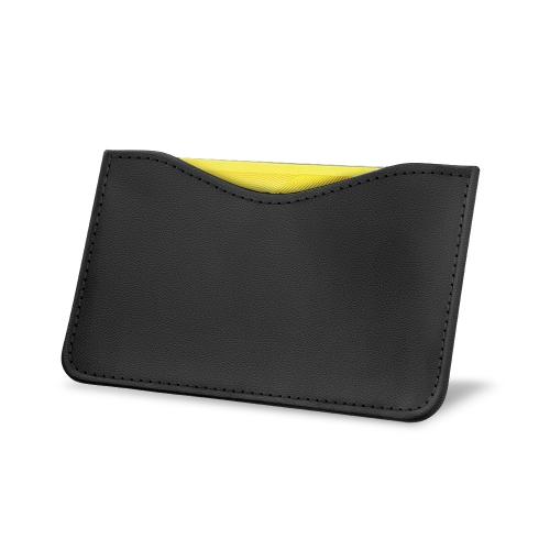 Porte carte X1 - Anti-RFID / NFC - Noir PU