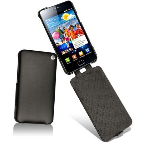 Housse cuir Samsung GT-i9100 Galaxy S II  - Noir ( Nappa - Black )