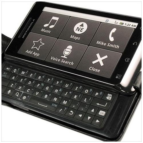 Housse cuir Motorola Milestone 2 - Droid 2