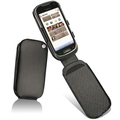 Nokia C7-00  leather case - Noir ( Nappa - Black )