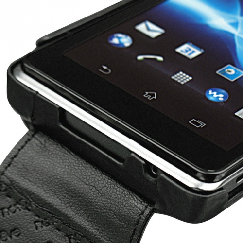 Housse cuir Sony Xperia V