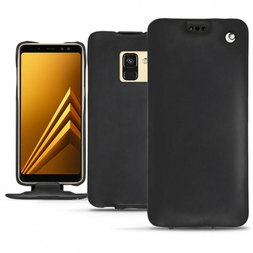 Capa em pele Samsung Galaxy A8 (2018) - Noir ( Nappa - Black )