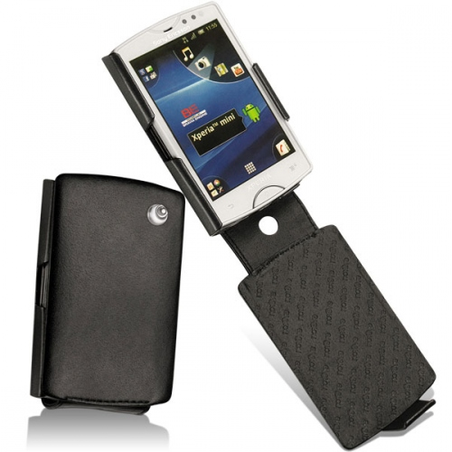Sony Ericsson Xperia Mini  leather case