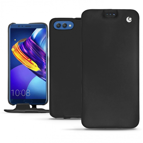 Huawei Honor View 10 leather case - Noir ( Nappa - Black )
