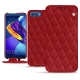 Huawei Honor View 10 leather case - Rouge - Couture ( Nappa - Pantone 199C )
