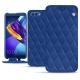 硬质真皮保护套 Huawei Honor View 10 - Bleu océan - Couture ( Nappa - Pantone 293C )