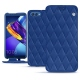Capa em pele Huawei Honor View 10 - Bleu océan - Couture ( Nappa - Pantone 293C )
