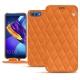 Housse cuir Huawei Honor View 10 - Orange - Couture ( Nappa - Pantone 1495U )