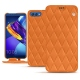 Huawei Honor View 10 leather case - Orange - Couture ( Nappa - Pantone 1495U )