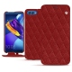 Huawei Honor View 10 leather case - Tomate - Couture ( Pantone 187C )