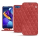 Housse cuir Huawei Honor View 10 - Cerise vintage - Couture