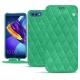 Huawei Honor View 10 leather case - Menthe vintage - Couture