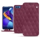 Housse cuir Huawei Honor View 10 - Prune vintage - Couture