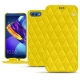 Huawei Honor View 10 leather case - Jaune fluo - Couture