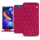 Huawei Honor View 10 leather case - Rose fluo - Couture