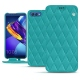 Huawei Honor View 10 leather case - Bleu fluo - Couture
