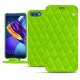 Custodia in pelle Huawei Honor View 10 - Vert fluo - Couture