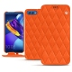 Housse cuir Huawei Honor View 10 - Orange fluo - Couture