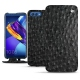 Huawei Honor View 10 leather case - Autruche nero