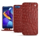 Huawei Honor View 10 leather case - Autruche ciliegia