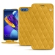 Huawei Honor View 10 leather case - Jaune soulèu - Couture