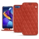 Huawei Honor View 10 leather case - Arange clouquié - Couture