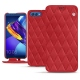 Housse cuir Huawei Honor View 10 - Rouge troupelenc - Couture