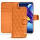 Lederschutzhülle Huawei Honor View 10 - Orange - Couture ( Nappa - Pantone 1495U )