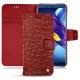 Lederschutzhülle Huawei Honor View 10 - Autruche ciliegia