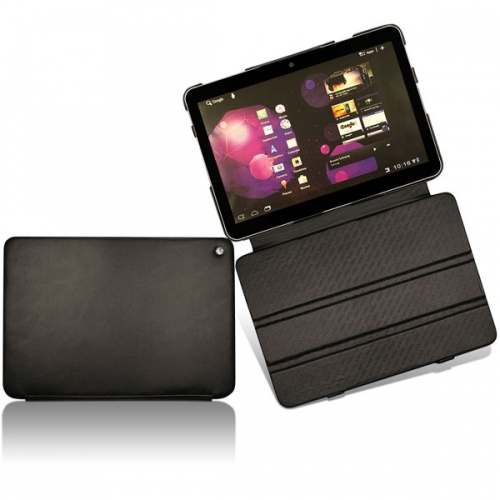 Samsung GT-P7100 Galaxy Tab 10.1V  leather case - Noir ( Nappa - Black )