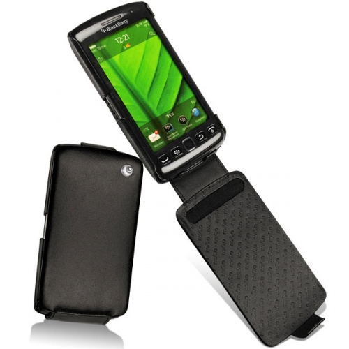 BlackBerry Torch 9850 - 9860  leather case - Noir ( Nappa - Black )