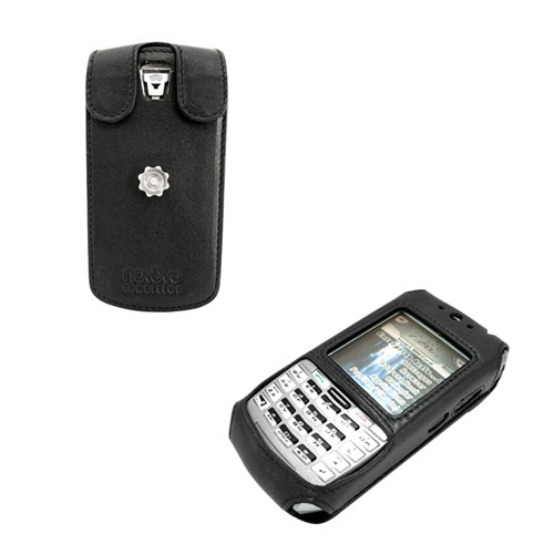 Leather case BlackBerry 7100g - 7100x  - Noir ( Nappa - Black )
